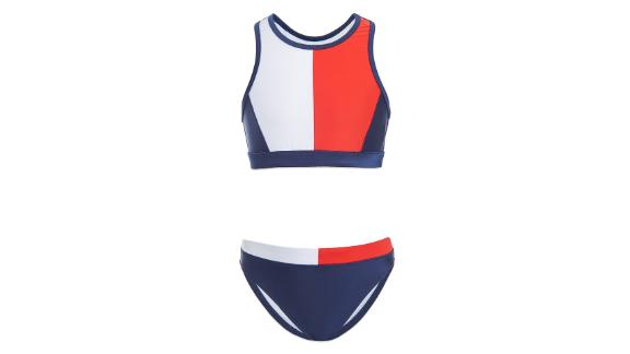 Tommy Hilfiger Girl Colorblock Two-Piece Swimsuit