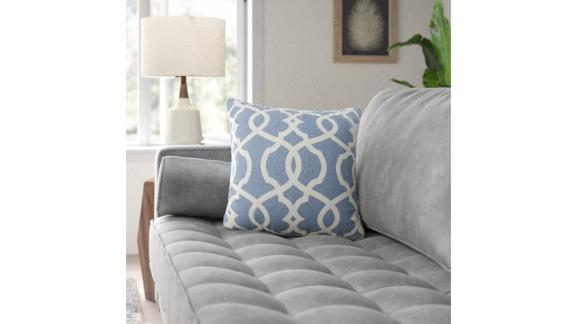 Brennan Cotton Damask Throw Pillow