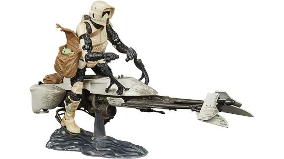 Star Wars The Black Series Speeder Bike Scout Trooper and The Child