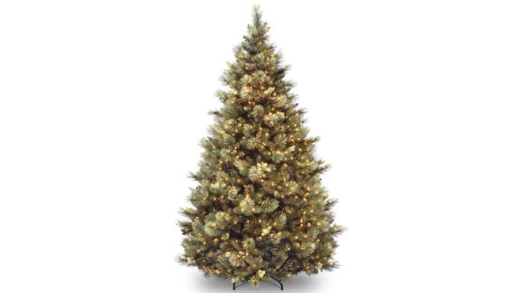 Laurel Foundry Modern Farmhouse Isenhour Green Artificial Christmas Tree With Clear/White Lights