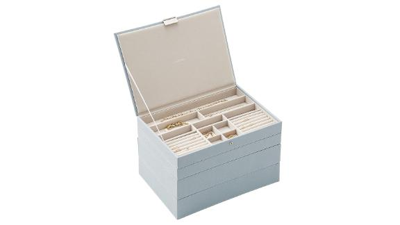 Stackers Dusky Blue Supersize Premium Stackable Jewelry Box