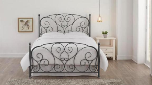 StyleWell Dayport Bronze Metal King Scroll Bed