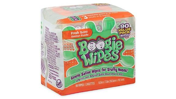 Boogie Wipes Natural Saline, 90-Count
