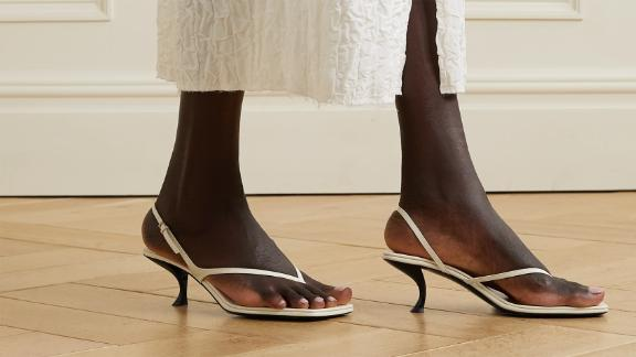 The Row Constance Leather Slingback Sandals