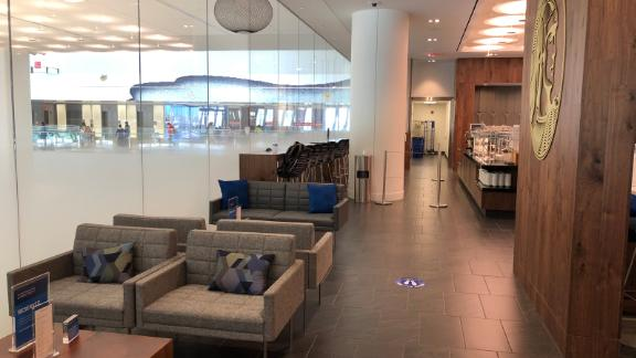 Use your Amex Platinum card to access the new Amex Centurion Lounge at New York's LaGuardia airport.